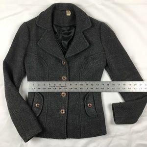 Nordstrom Wool Blend Blazer w Pockets & 4 Buttons
